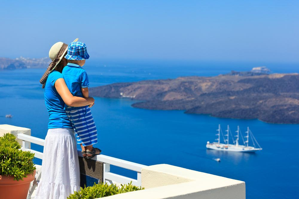 Santorini - best city to fall in love with locals family