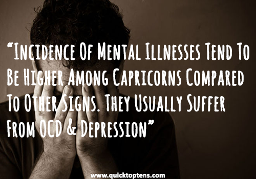capricorn traits - Mental Illnesses