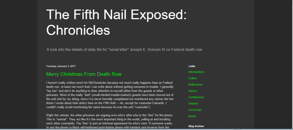 creepiest websites - The Fifth Nail Blog
