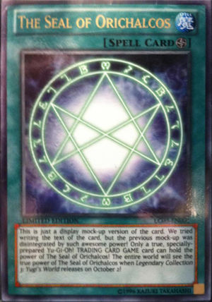 yugioh egyptian god cards - THE SEAL OF ORICHALCOS