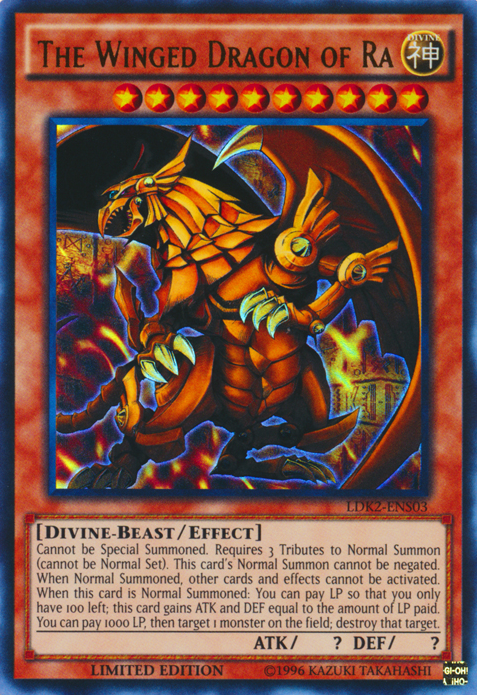Egyptian God Cards - THE WINGED DRAGON OF RA