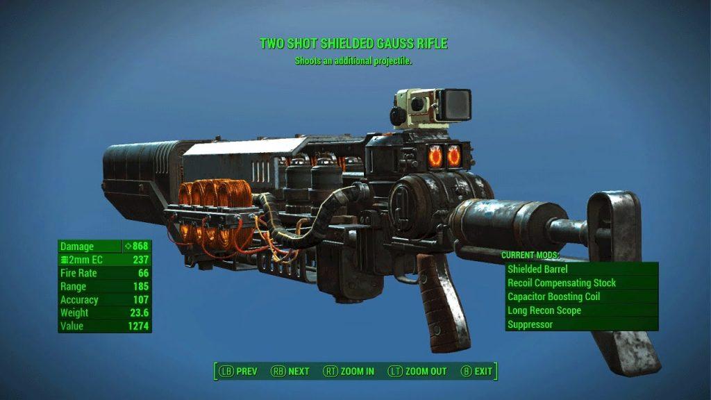 Best Sniper Rifle Fallout 4 - Gauss Rifle